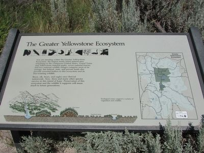 The Greater Yellowstone Ecosystem Marker image. Click for full size.