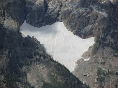 Glacier atop Mount Moran image. Click for full size.