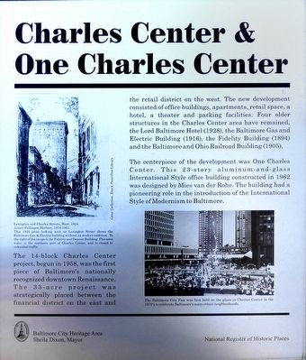 Charles Center & One Charles Center Marker image. Click for full size.