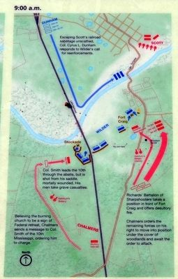 Troop Positions and Actions, 9:00 a.m. image. Click for full size.