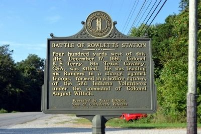 Battle of Rowletts Station Marker image. Click for full size.