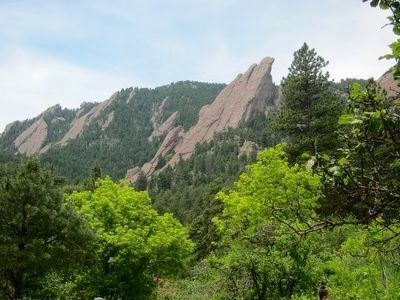 The Flatirons (Taken from marker site.) image. Click for full size.
