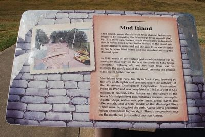 Mud Island Marker image. Click for full size.