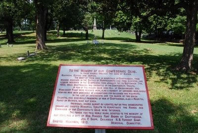 To the Memory of Our Confederate Dead Marker image. Click for full size.