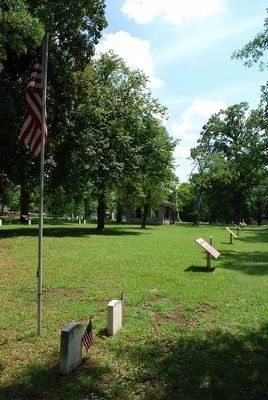 Union Soldiers Grave Markers Location image. Click for full size.