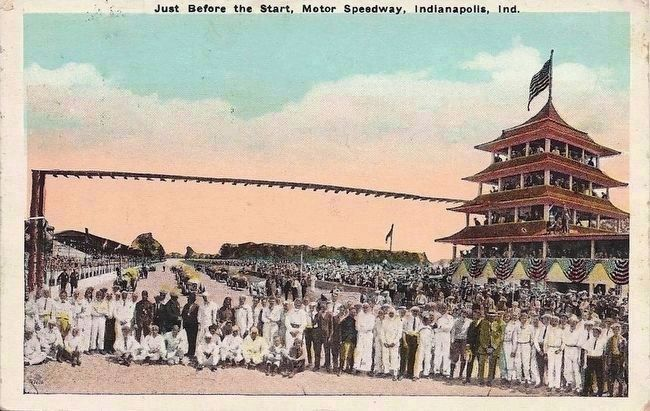 <i>Just Before the Start, Motor Speedway, Indianapolis, Indiana</i> image. Click for full size.