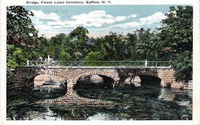 <i>Bridge, Forest Lawn Cemetery, Buffalo, N.Y.</i> image. Click for full size.