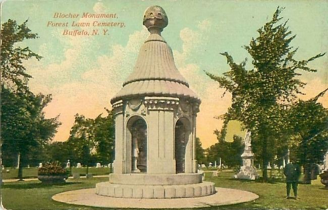 <i>Blocher Monument, Forest Lawn Cemetery, Buffalo, N.Y.</i> image. Click for full size.