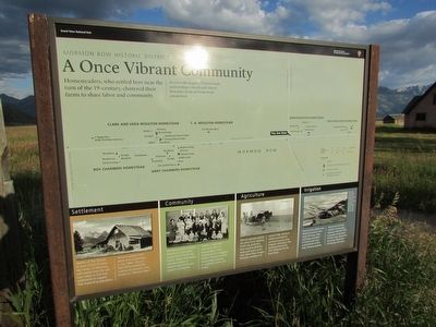 A Once Vibrant Community Marker image. Click for full size.