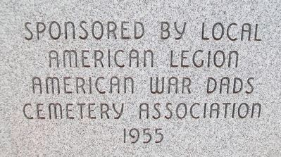 War Memorial Sponsor image. Click for full size.