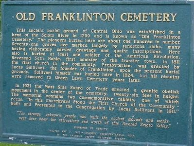 Old Franklinton Cemetery Marker image. Click for full size.