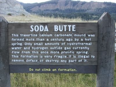 Soda Butte Marker image. Click for full size.
