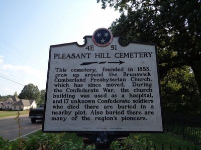 Pleasant Hill Cemetery Marker image. Click for full size.
