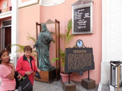 Tequesta Marker at the entrance to the church image. Click for full size.