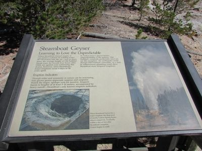 Steamboat Geyser Marker image. Click for full size.