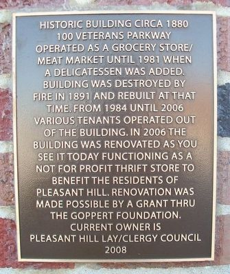 100 Veterans Parkway Marker image. Click for full size.
