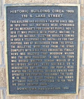 110 South Lake Street Marker image. Click for full size.