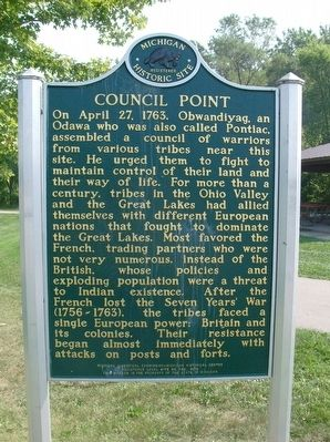Council Point / Pontiac's Council Marker image. Click for full size.