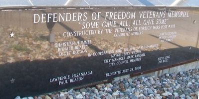 Defenders of Freedom Veterans Memorial Marker image. Click for full size.