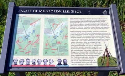Battle of Munfordville: Siege Marker image. Click for full size.