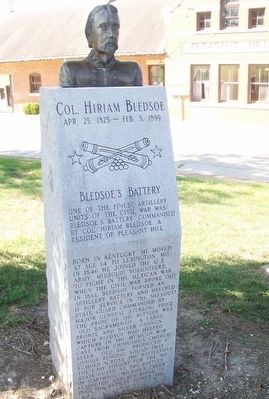 Col. Hiram Bledsoe Monument image. Click for full size.