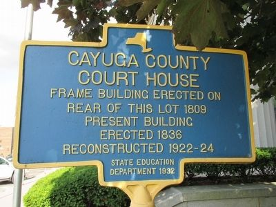 Cayuga County Court House Marker image. Click for full size.