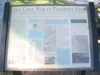The Civil War in Pleasant Hill Marker image. Click for full size.