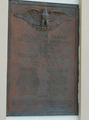 Assumption Parish WWII Memorial image. Click for full size.