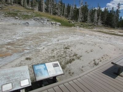 Marker in the Upper Geyser Basin image. Click for full size.