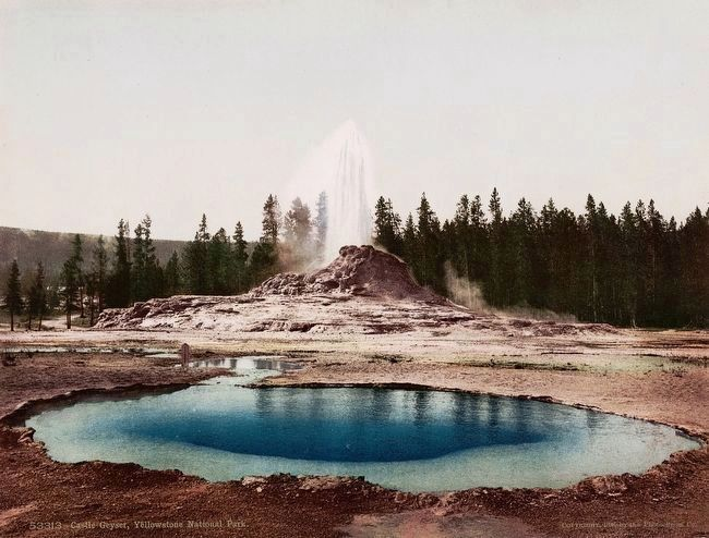 <i>Castle Geyser, Yellowstone National Park</i> image. Click for full size.