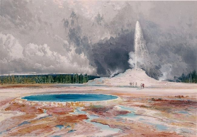 <i>The Castle Geyser, Upper Geyser Basin, Yellowstone National Park</i> image. Click for full size.