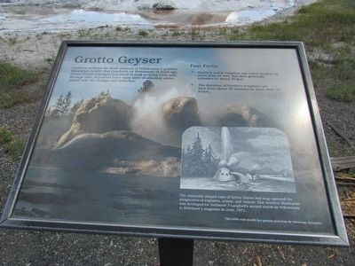 Grotto Geyser Marker image. Click for full size.