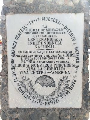 Centennial of Salvadoran Independence Marker image. Click for full size.