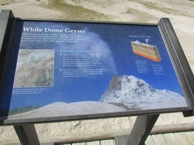 White Dome Geyser Marker image. Click for full size.