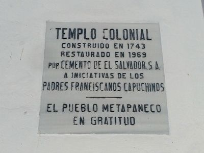 Saint Peter Church of Metapán Marker image. Click for full size.