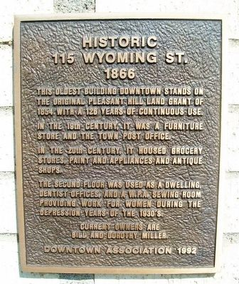 Historic 115 Wyoming Street Marker image. Click for full size.