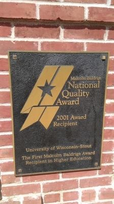 Malcolm Baldrige National Quality Award image. Click for full size.