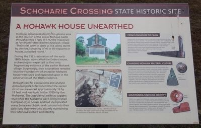 A Mohawk House Unearthed Marker image. Click for full size.
