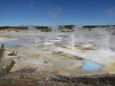 Norris Geyser Basin image. Click for full size.