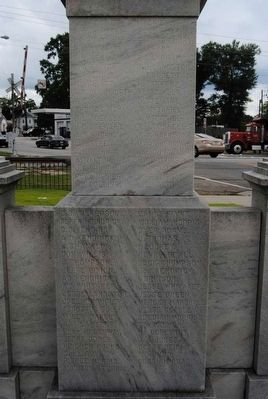 Women of the Sixty&#39;s Confederate Monument<br>South Inscription<br>List of Soldiers from Companies image. Click for full size.
