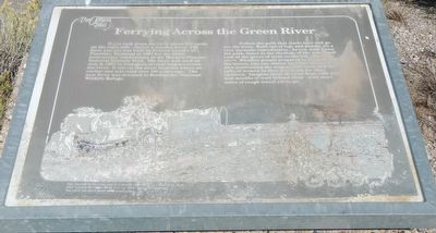 Ferrying Across the Green River Marker image. Click for full size.