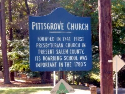 Pittsgrove Church Marker image. Click for full size.