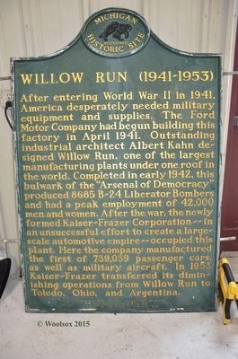 Willow Run Marker image. Click for full size.