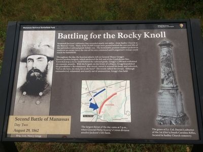 Battling for the Rocky Knoll Marker image. Click for full size.
