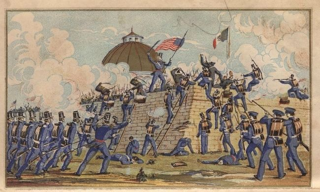 Battle of Chapultepec image. Click for full size.