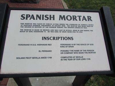 Spanish Mortar Marker image. Click for full size.