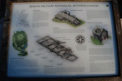 Roman Military Bathhouse, Bothwellhaugh Marker image. Click for full size.