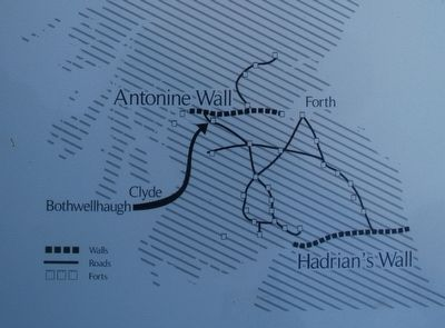 Antonine Wall & Hadrian's Wall Map image. Click for full size.