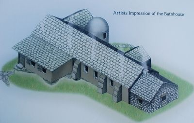 Roman Military Bathhouse, Bothwellhaugh Art image. Click for full size.