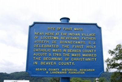 Site of First Mass Marker image. Click for full size.